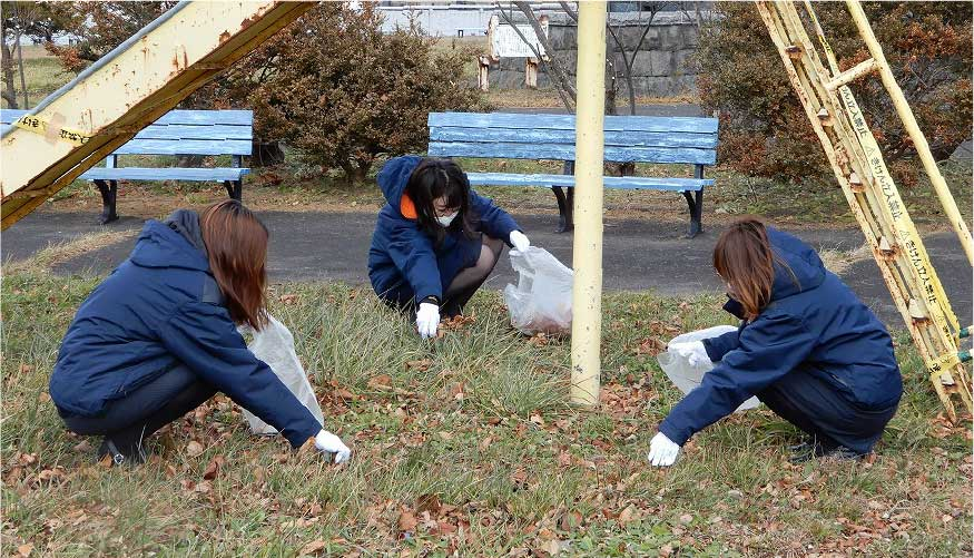 入江臨海公園での清掃活動